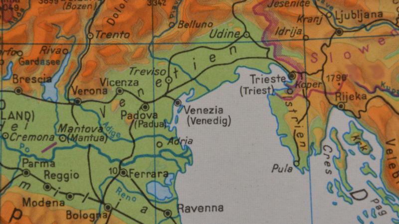Karte Venetien