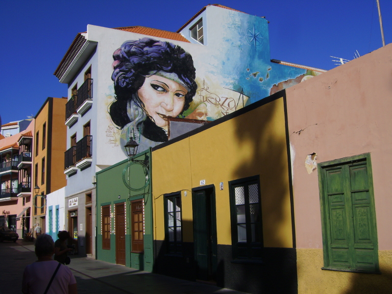 Puerto Cruz Wandmalerei