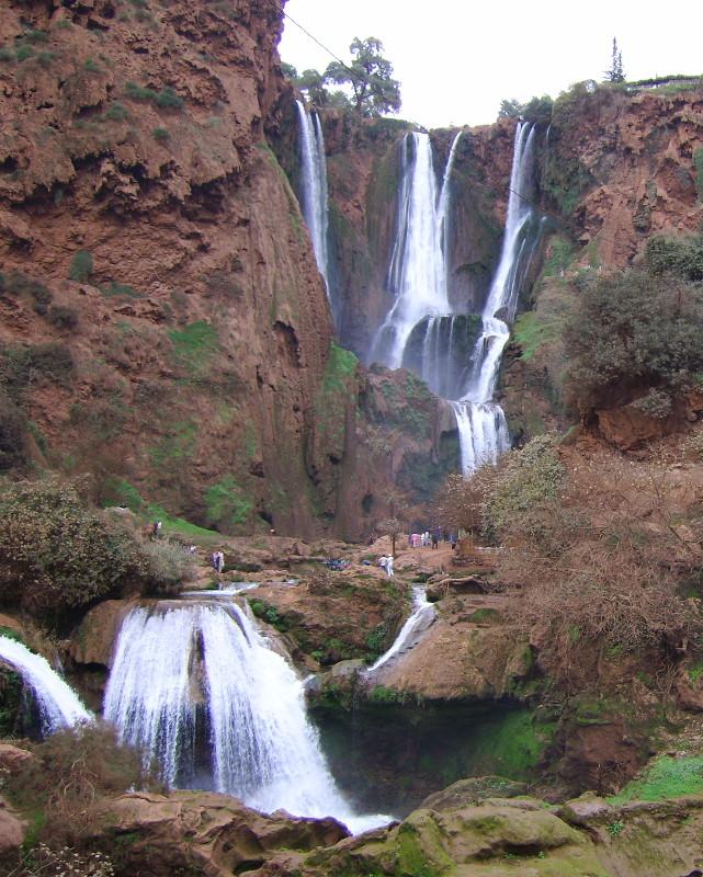 Ouzod Wasserfall im Hohen Atlas