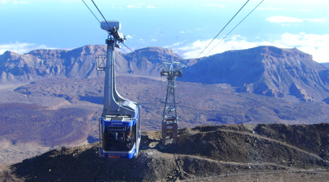 Seilbahn am Gipfel des Teide