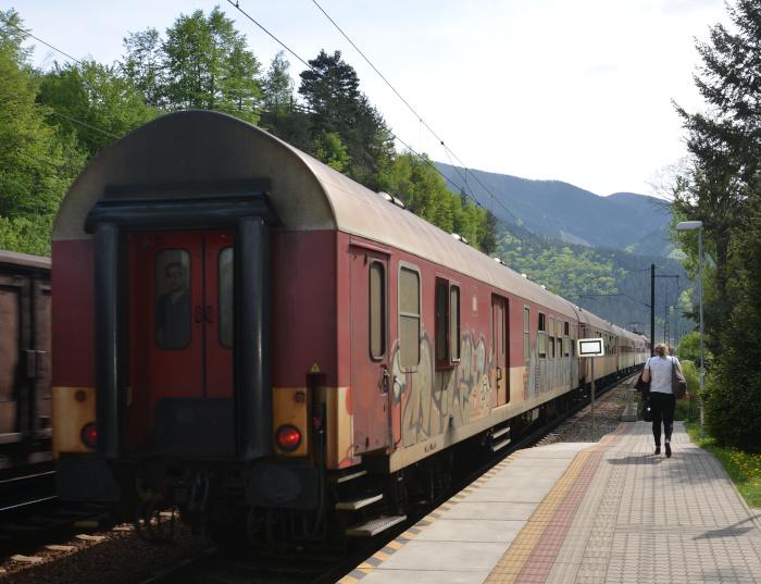 lokal train  in the Mala Fatra Mountains region
