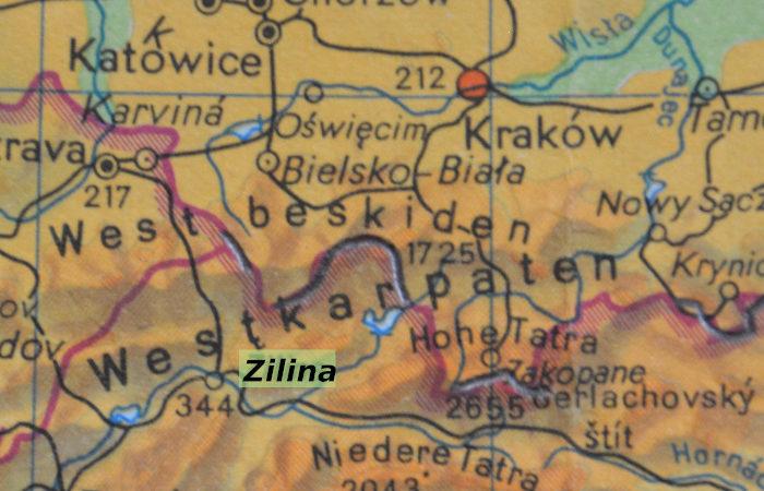 Karte Zilina