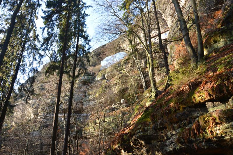 Rückseite Prebischtor Böhmische Schweiz