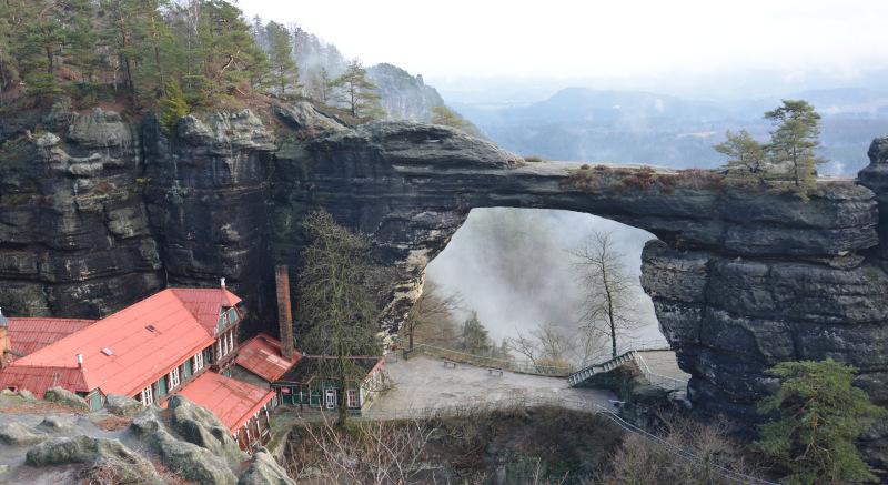 Prebischtor - Ansicht, Böhmische Schweiz