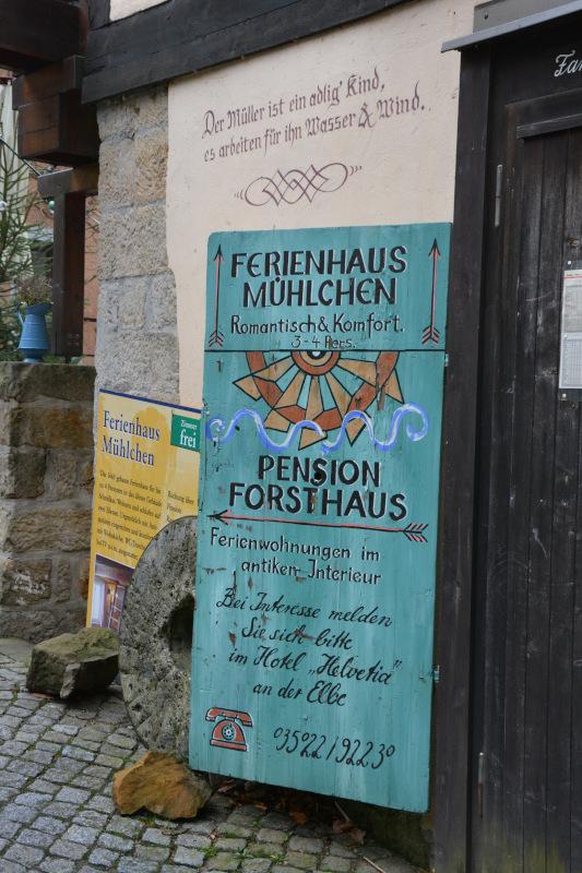 Pensions-Werbung Schmilka