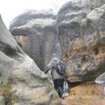 Passage zwischen Sandstein