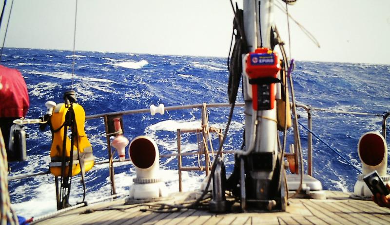 Atlantik-Segeln See achteraus