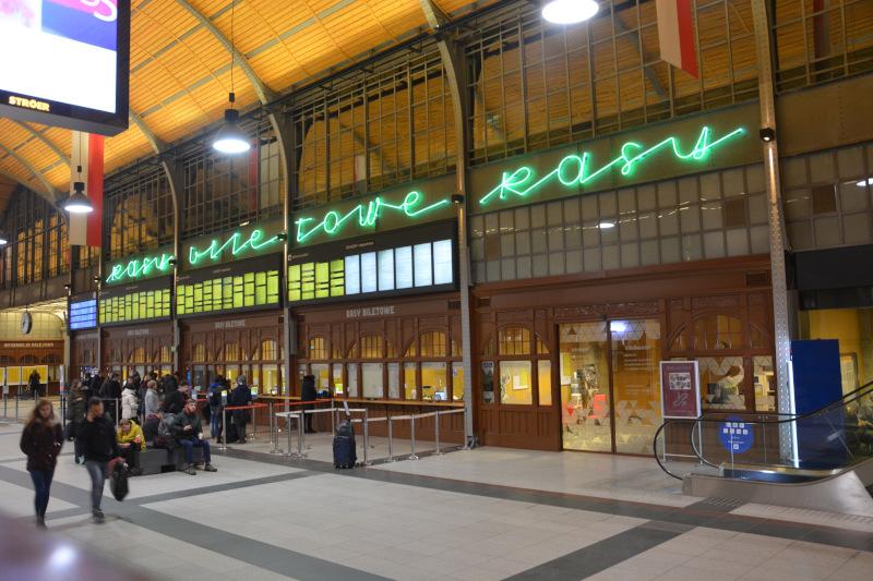 Wroclaw  Main railway station - counter hall