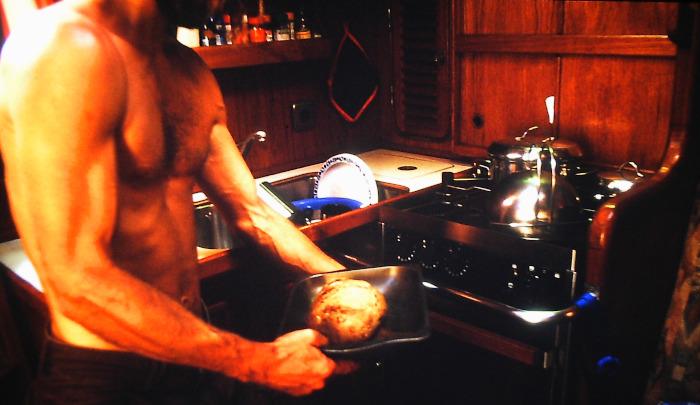 Atlantik-Segeln Bordbäckerei