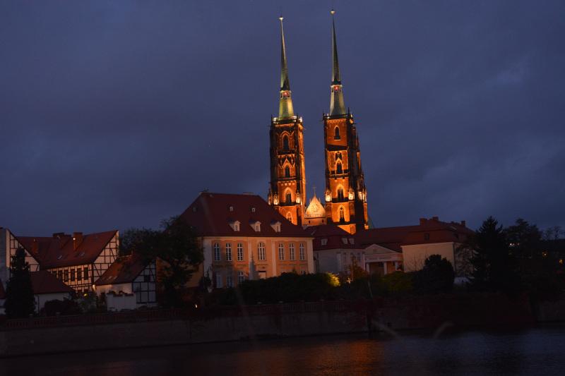 Cathedral island  Wroclaw nightview  - Nachtansicht Breslau