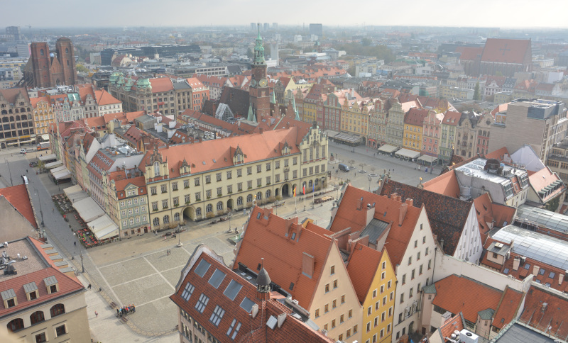 Wroclaw / Breslau - view from Garrison church over the Market place