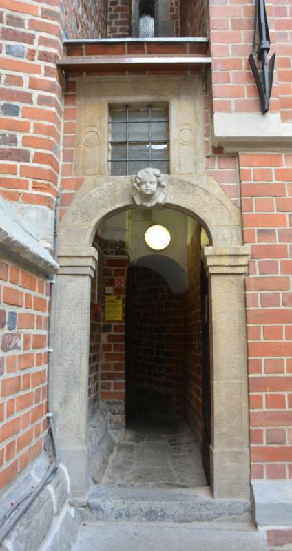 Wroclaw / Breslau Entrance to the tower of garrison church