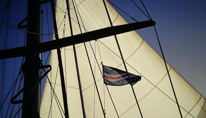 Atlantik-Segeln Gastlandflagge Kapverden