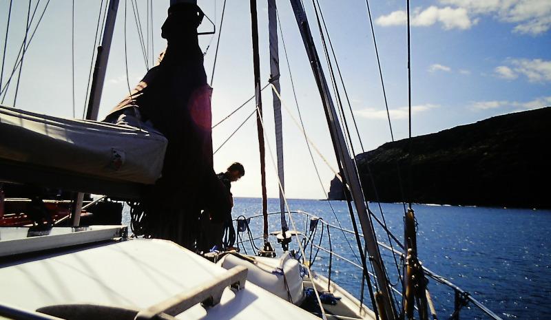 Atlantik-Segeln Beim Aufklaren