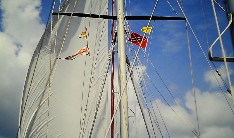 Atlantik-Segeln Zollflagge