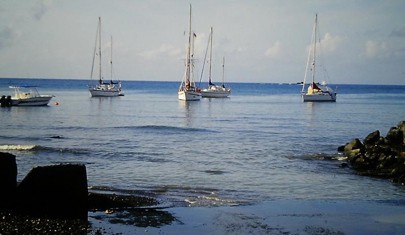 Atlantik-Segeln Yachten in der Bucht