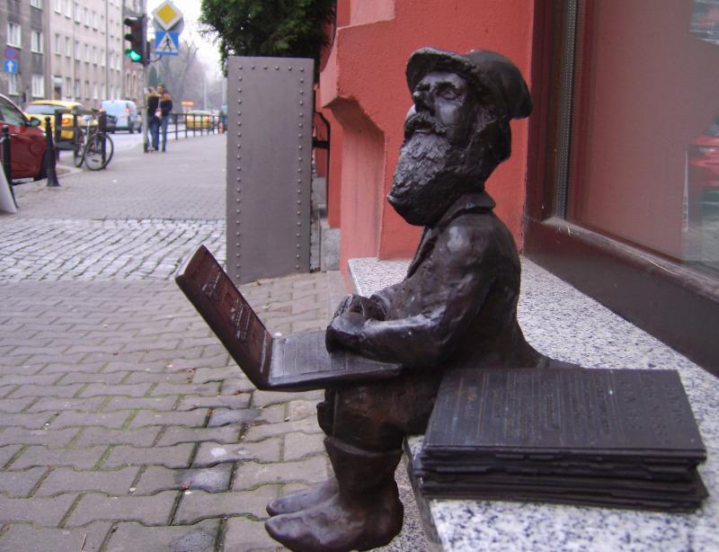 Wroclaw / Breslauer Zwerge:  Laptop- Zwerg