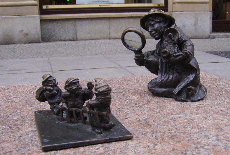 Wroclaw Dwarfs : Dwarf Observer / Breslauer Zwerge:  Zwergenbeobachter