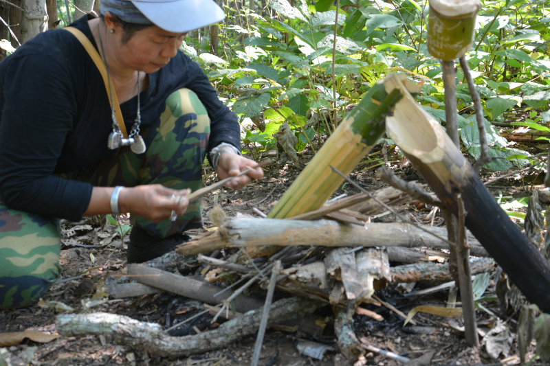 Bergtour in Thailands Wäldern