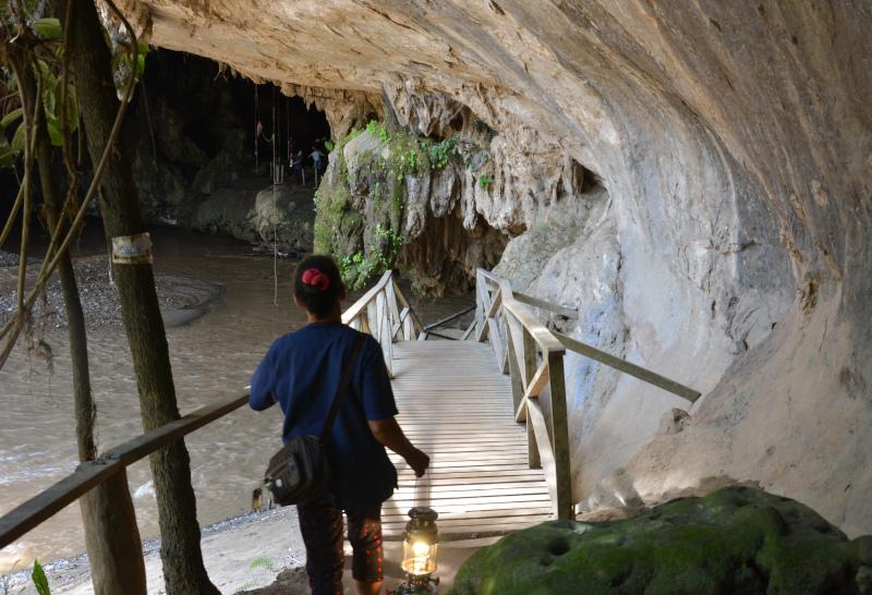 Thailands Norden Tham Lot Höhle