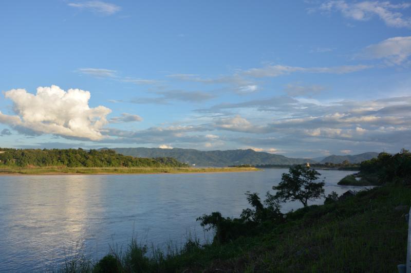 Thailands Grenze am Mekong