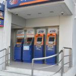 Bankautomaten für Geldabhebung per Kreditkarte