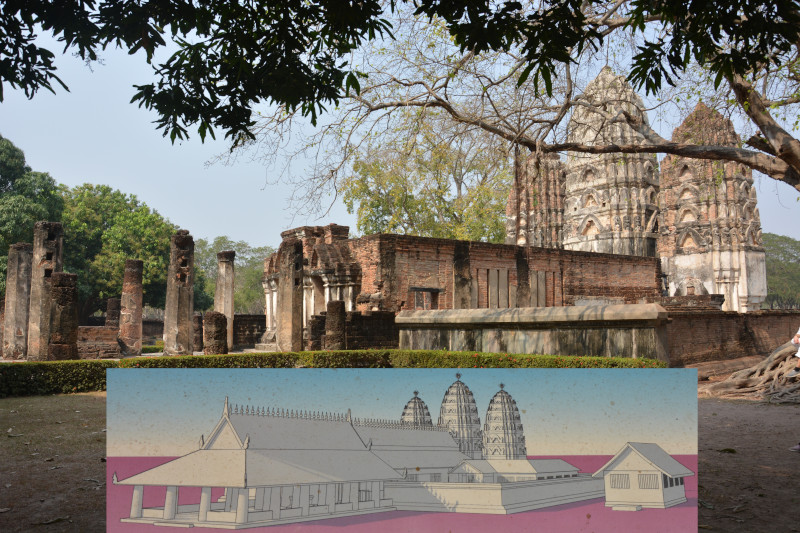 Sukothai Wat Sri Sawai