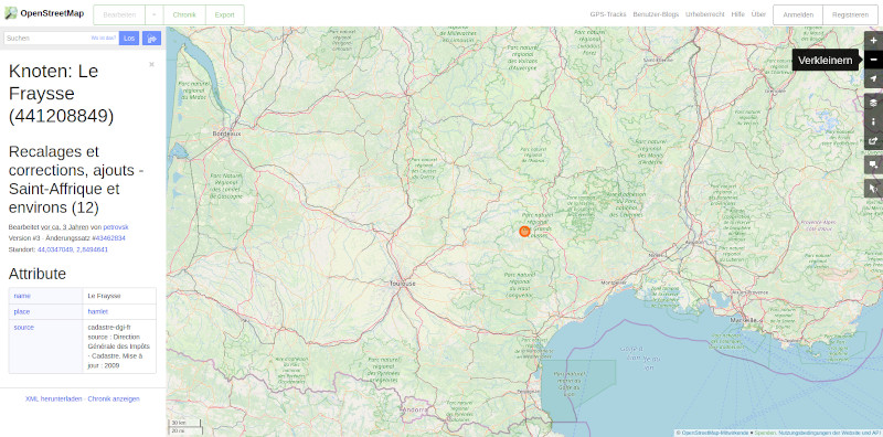 Openstreetmap - Kartenansicht auf PC