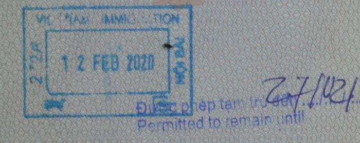 Vietnam - Einreisestempel
