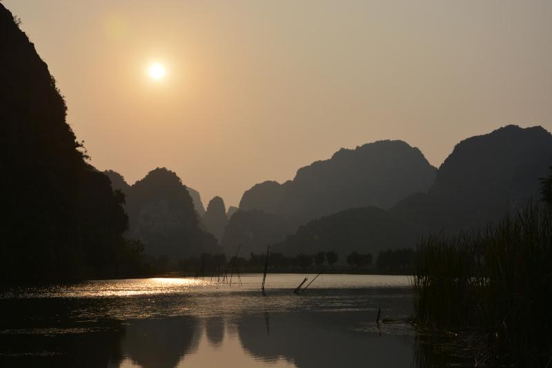 Abendsonne bei Ninh Binh Vietnam