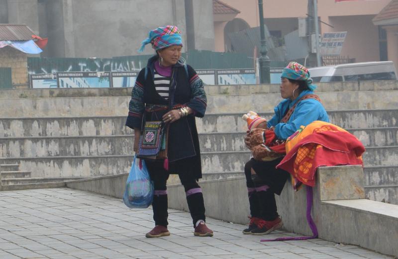 Vietnam Sa Pa Hmong-Frauen