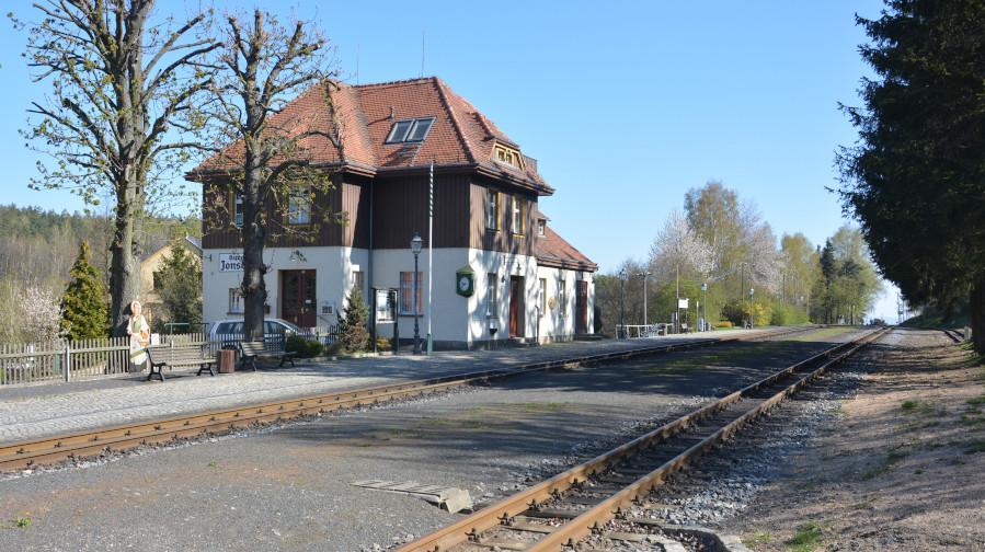 Schmalspur- Bahnhof Kurort Jonsdorf im Zittauer Gebirge