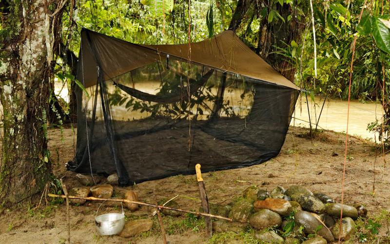 outdoor Moskito-Tarp  auf Reise - leichtes Dach und Mückenschutz