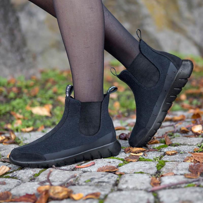 halbhohe Merino-Woll-Schuhe ohne Schweißfuß - Merino Wool Boots - Schuhe gegen Fußschweiß im Herbst