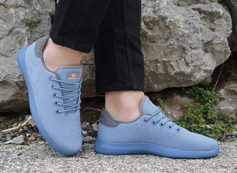 Merino Wool Schuhe für Damen und Herren gegen Fußschweiß / Schweißfuß: Merino Wool Knit mit gestrickter Oberfläche
