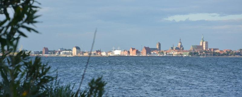 Rügen-Radweg Ansicht Stralsund