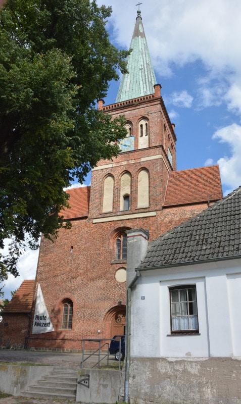 Urlaub Rügen - Radtour Bergen St.Marienkirche
