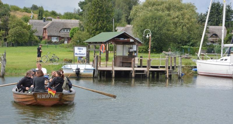Ruderboot - Fähre Moritzdorf auf Rügen - Radtour
