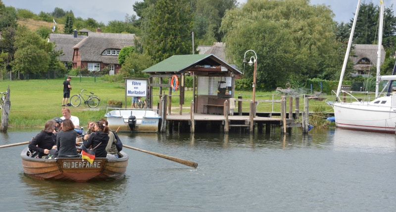Ruderboot - Fähre Moritzdorf auf Rügen - Ostseeradweg