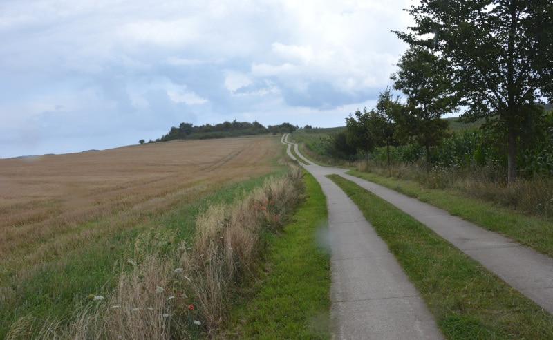 Fahrradwege Rügen  - Betonplatten-Weg