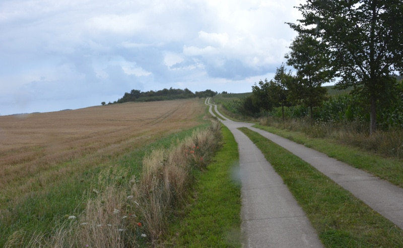 Rügen-radtour Betonplatten-Weg