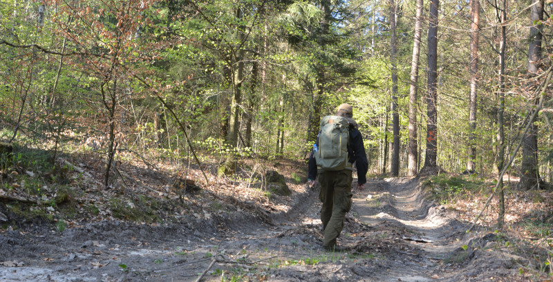 Oberllausitz mountain trail with Abisko hiking backpack