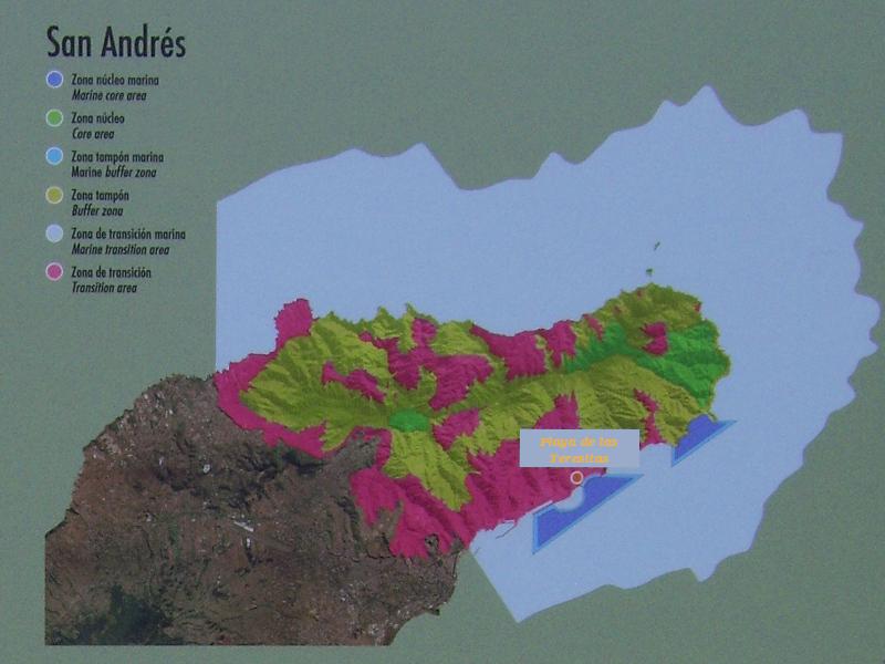 Zonenübersicht Biosphärenreservat Anaga im Nordosten Teneriffas
