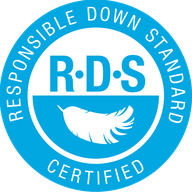 RDS - Siegel responsible down standard - verantwortungsvolle Daunen-Gewinnung garantiert