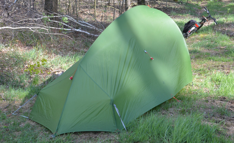 light weight tent rear side
