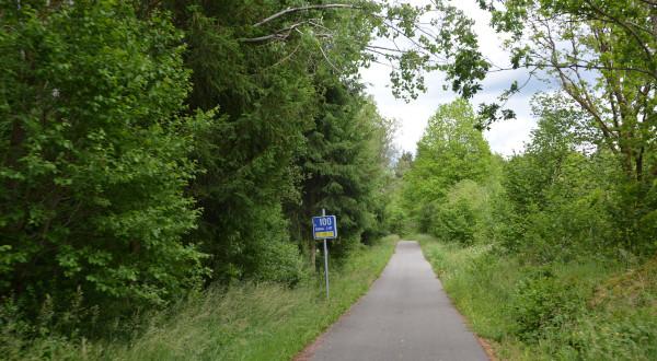 Vennbahn - Radweg Streckenschild