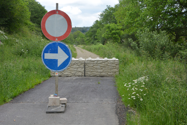 Vennbahn - Radweg Baustelle