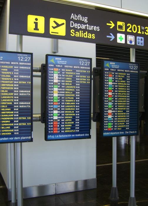 Las Palmas de Gran Canaria Abflug -  aeropuerto de Gran Canaria