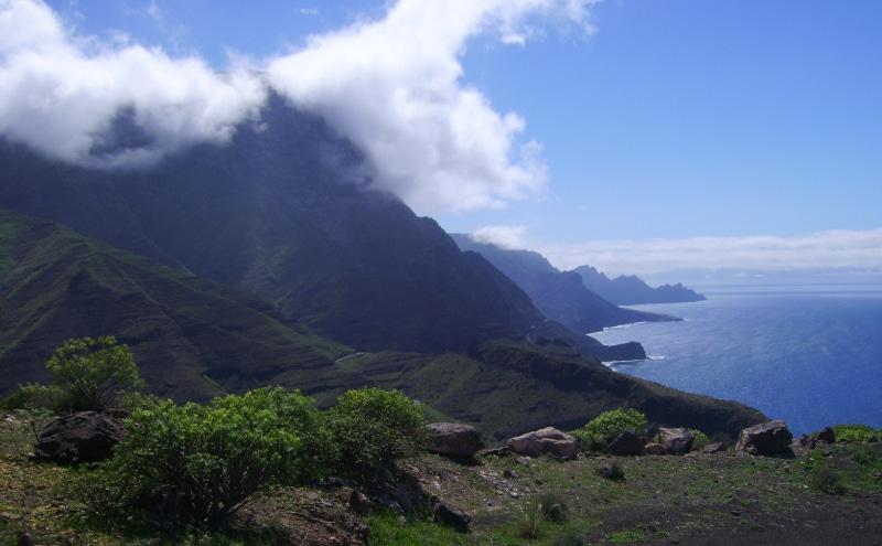 Gran Canaria See-Nebel Küstengebirge Wanderpfade bei Agaete