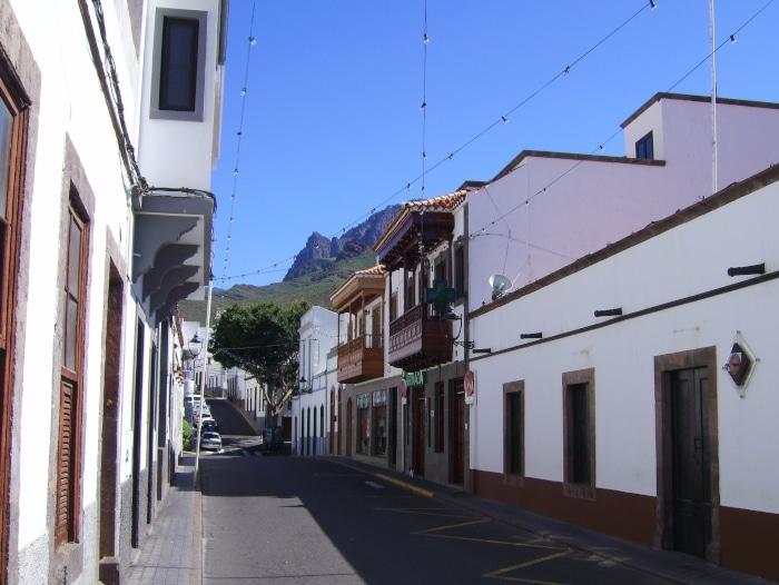 Straßen ansicht Agaete - Gran Canaria